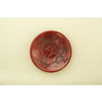 鎌倉彫 茶托 4寸桃形 松五種 五枚組