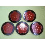 鎌倉彫 銘々皿 梅(しべ金)6寸